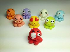 Super Adorable Hand-made Polymer Clay Octopus charms - customise your own charms