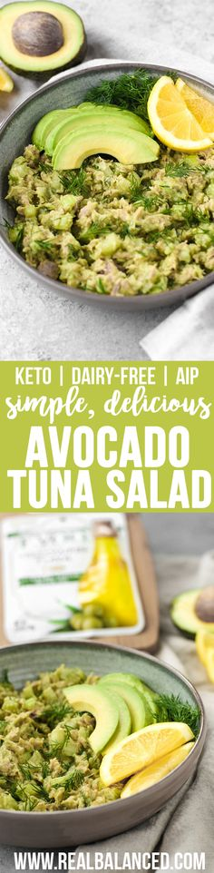 Avocado Tuna Salad: Delicious, protein-packed, keto-friendly meal option featuring StarKist Selects E.V.O.O. Wild-Caught Yellowfin Tuna! Only 4.2g net carbs! #lowcarb #keto #paleo #AIP #Whole30, #dairfree #eggfree #glutenfree #grainfree #refinedsugarfree! #ad