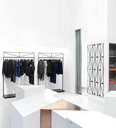 Stockholm-based firm Guise have designed a new retail space for a young Swedish fashion brand House of Dagmar, housed within the amazing Stockholm department store Nordiska Kompaniet. Retail Interior Design, Retail Store Design, Interior Decorating, Visual Merchandising, Regal Design, Swedish Design, Retail Space, Shop Interiors, Commercial Interiors