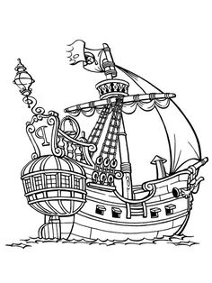 Piet Pirate Galleon Coloring Pages : Bulk Color Pirate Coloring Pages, Coloring Pages For Boys, Animal Coloring Pages, Coloring Book Pages, Printable Coloring Pages, Real Pirate Ships, Images Pirates, Pirate Ship Drawing, Preschool Pirate Theme