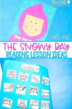 The Snowy Day Activities Kindergarten and Lesson Plans! Reading comprehension skills are practiced such as visualizing and making connections. A fun craft for The Snowy Day is also featured. You can get a free winter math activity too! So many ideas for your classroom! #thesnowyday #kindergartenreading