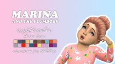 Sims 4 CC's - The Best: NIGHTCRAWLER TRIXIE HAIR FOR TODDLERS by Marina an...