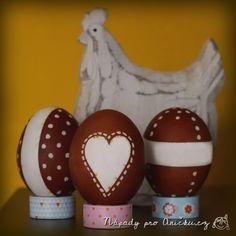 Velikonoční vajíčka (cibulové slupky+bílý korektor) Diy And Crafts, Easter, Easter Activities