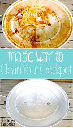Magic Way to Clean a Crockpot - My Kitchen Escapades