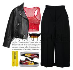 """"""""""" by fuckedchanel ❤ liked on Polyvore featuring Alexander McQueen, Vans, Off-White and Acne Studios"""