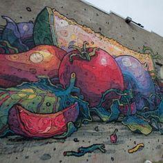 Barcelona-based artist Aryz street murals