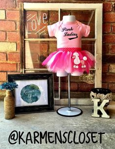 Baby Poodle Skirt And Monogrammed Onesie By KarmensCloset