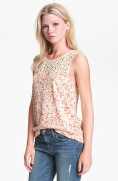 Hinge Crochet Tank Top $54.00 available at nordstroms.com