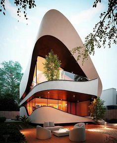 Angular Architecture, Architecture Design, Futuristic Architecture, Beautiful Architecture, Architecture Company, Chinese Architecture, Architecture Office, Contemporary Architecture, Villa Design