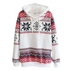 ROPALIA Women Hoodie Snowflake Sweatshirt Pullover Winter Autumn Fleece Pullover -- You can find out more details at the link of the image.(This is an Amazon affiliate link and I receive a commission for the sales) #FashionHoodiesandSweatshirts