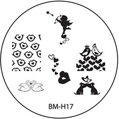 Pochoir de stamping # Kit de 17° ° Amour, Love, Saint-Valentin Cœur, Amor, täubchen, oiseaux, lèvres, Baiser ° °: Tampon pochoir en métal…