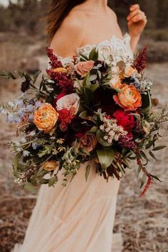 Wildflower Wedding Bouquets Not Just For The Country Wedding ❤︎ Wedding planning ideas & inspiration. Wedding dresses, decor, and lots more. #weddingideas #wedding #bridal