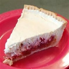 """Rhubarb Cheesecake 