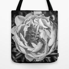 Peony Flower Square Tote Bag by Edward M. Fielding - $22.00