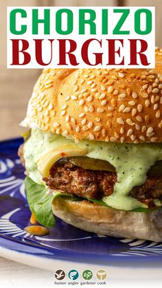 If you like Mexican food, or really American Southwestern food, this chorizo burger is for you. A mash-up of border cuisines, the burger itself is the star, loaded with flavor and super easy to make at home — but there are a few tricks you need to know first. I experimented with a wide variety of different ways to make a chorizo burger, ranging from 100 percent chorizo to different types of chorizo to smaller proportions of the spicy sausage. | @huntgathercook #hankshaw #cincodemayoburger Chorizo Burger Recipe, Burger Recipes, Grilling Recipes, Lunch Recipes, Meat Recipes, Mexican Food Recipes, Dinner Recipes, Game Recipes, Cooking Recipes