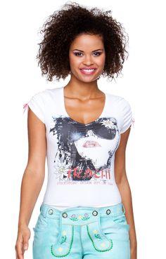 Trachten T-Shirt - Vanice - weiß
