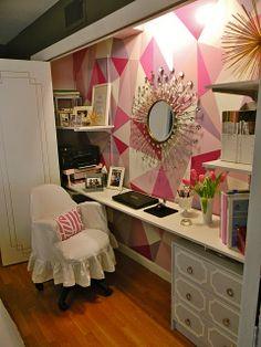 ACHADOS DE DECORAÇÃO - blog de decoração: HOME OFFICE: dentro do armário e uma transformação incrível!