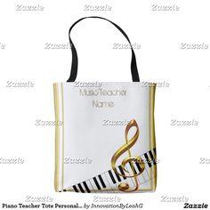 Piano Teacher Tote Personalized Tote Bag
