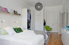 interior decorating ideas small room big bed - Google Search