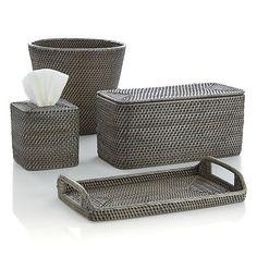 Sedona Grey Bath Accessories | Crate and Barrel