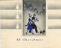 A Very Deco Scottie Christmas card.