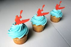 12 Kayak Cupcake Toppers Acrylic by ThickandThinDesigns on Etsy, $15.00