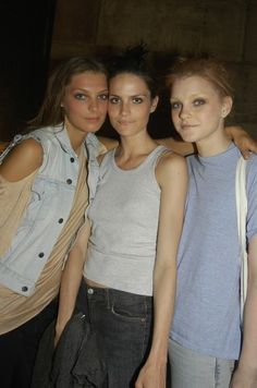 Models had street style before there was a name for it. Daria Werbowy, Missy Rayder, and Jessica Stam