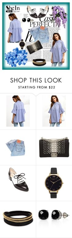 """""""SheIn"""" by aazraa ❤ liked on Polyvore featuring Whiteley, Levi's, Chanel, Nine West, Olivia Burton, Vita Fede and Belk & Co."""