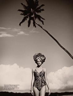Spanish model....African inspired theme for Vogue Russia