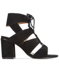 Report Edolie Block Heel Lace-Up Sandals | macys.com
