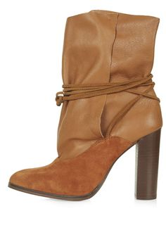 HILARY Tie-Up Ankle Boots - Topshop