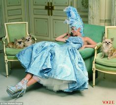 Modern-day Marie Antoinette: Kate Moss is transformed into a renaissance woman for usa april vogue  spread at the Ritz Paris, shot just before the hotel closed for a two-year refurbishment