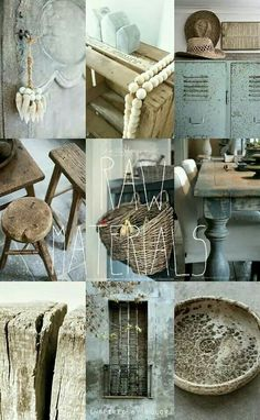 RAW MATERIALS. Inspired BY COLOR moodboard #anke