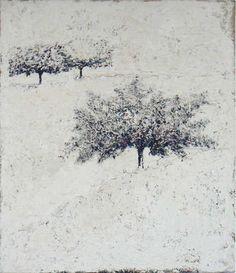 Carlo MATTIOLI (1911-1994) Paesaggio bianco (1984) Painting , Oil/canvas , 150 x 134cm (59.06 x 52.76 in) via