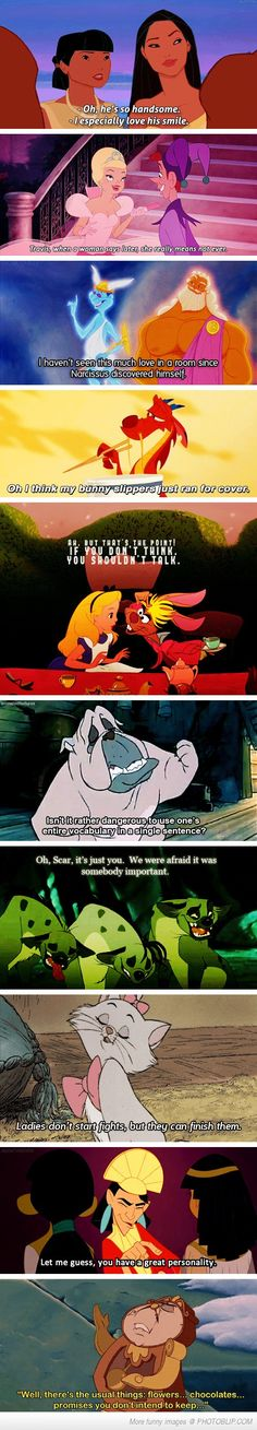 My Favorite Disney Quotes Oh, they are too good if you can also hear the real voices as you read.