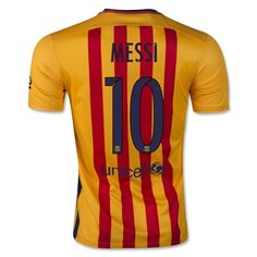 Lionel Messi Authentic Away Soccer Jersey 15/16 Barcelona #10