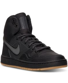 6767950846a Nike Men s Son of Force Mid Winter Casual Sneakers from Finish Line - Black  13 Sneakers