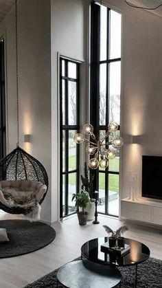 Home Room Design, Dream Home Design, Modern House Design, Modern Interior Design, Living Room Designs, Luxury Home Decor, Fall Home Decor, Home Living Room, Living Room Decor