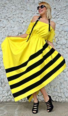 Now selling: Lemon Yellow Dress, Cotton Lemon Yellow Dress with Black Stripes, Summer Striped Dress TDK247 by TEYXO https://www.etsy.com/listing/507223458/lemon-yellow-dress-cotton-lemon-yellow?utm_campaign=crowdfire&utm_content=crowdfire&utm_medium=social&utm_source=pinterest