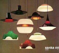 Pendant lights / Sanka Oy, 1974