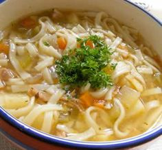 Chicken Noodle Soup: This classic chicken noodle soup is a great pick-me-up for a sick day or an extra chilly night. One taste and you'll never go back to the canned stuff!