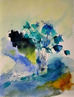 Watercolor 412142, painting by artist ledent pol