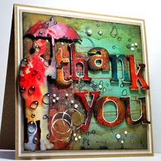 Eileen's Crafty Zone: Tim Holtz Umbrella Man and Word-Play Dies ... Plus a few stamps.
