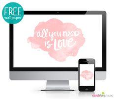 A peek into our love-inspired lettering workshop (& a free desktop wallpaper!)