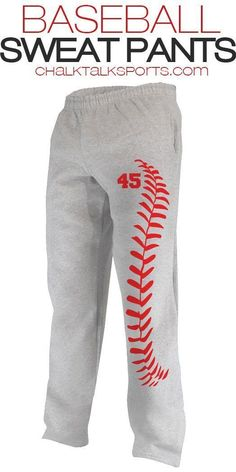 Needing that perfect pair of baseball sweats? We've got you covered! Our super comfy baseball sweatpants are perfect for after a game, lounging around, or staying warm during a cold off season! #funbaseball #BestBaseballCloseoutBats #BaseballBoys