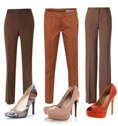 ¿Cómo combinar zapatos de colores con pantalones de vestir? Suit Fashion, Look Fashion, Winter Fashion, Womens Fashion, Moda Outfits, Trendy Outfits, Brown Pants Outfit, Cool Style, My Style