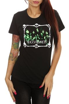 Black Veil Brides Green Bones Girls T-Shirt <3