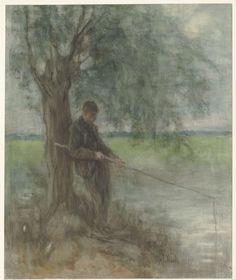 Een hengelaar, Jozef Israëls, 1834 - 1911