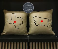 Custom US Map Pillow Cover 18 X 18 Pillow Cover Personalized Us