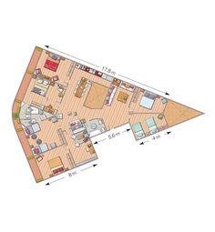 Una singular casa sin pasillos.... pizza slice!!!